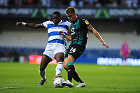 Bright Osayi-Samuel of Queens Park Rangers vies for possession with Jake Bidwell of Swansea City during the Sky Bet Championship match between Queens Park Rangers and Swansea City at The Kiyan Prince Foundation Stadium in London, England, UK. Wednesday 21, August 2019