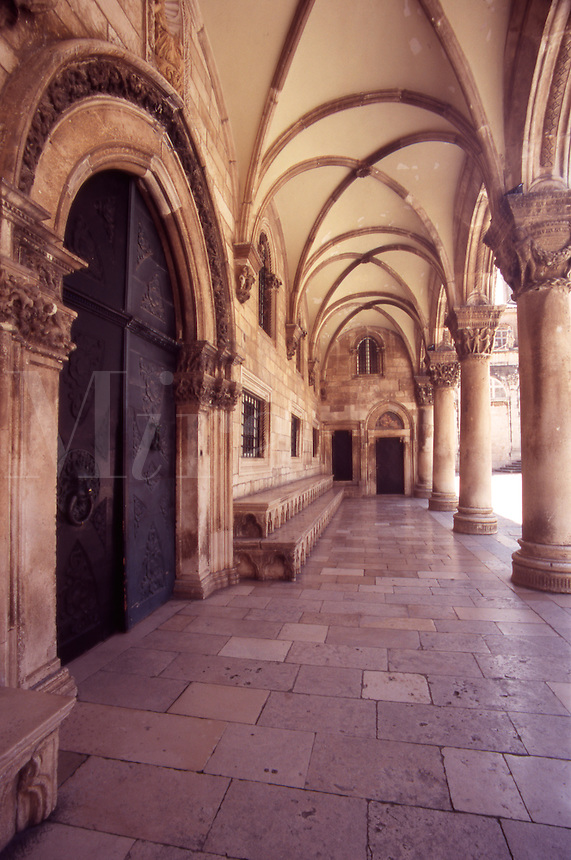 The Entrance to the Rector's Palace. Dubrovnik Old City. Croatia.