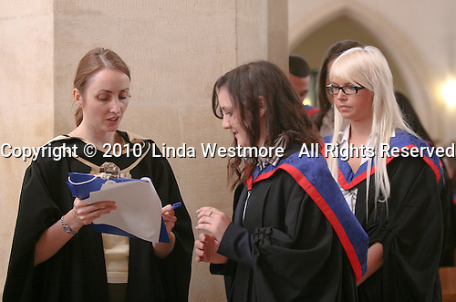 Students prepare for their graduation ceremony, University of Surrey.