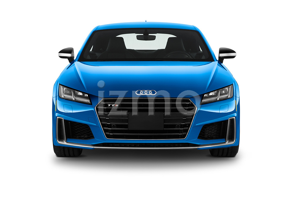 Car photography straight front view of a 2019 Audi TTS-Coupe Base 3 Door Coupe