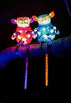 Pygmy Tarsiers lanterns during the Vivid 2016 Sydney Festival at Taronga Zoo, Sydney Australia.