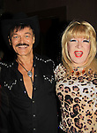 Lady Clover Honey poses with Randy Jones (Village People) celebrates his marriage (this morning September 13, 2013) with a celebration at the 13th Annual Kings & Cowboys at DL in New York City, New York. Randy is also celebrating his birthday.  (Photo by Sue Coflin/Max Photos)