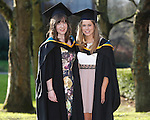 REPRO FREE<br /> 21/01/2015<br /> Cathy Moynihan, Ennis, Co. Clare and Aine Campbell, Athlone who graduated with Masters in Arts and Psychology as the University of Limerick continues three days of Winter conferring ceremonies which will see 1831 students conferring, including 74 PhDs. <br /> UL President, Professor Don Barry highlighted the increasing growth in demand for UL graduates by employers and the institution&rsquo;s position as Sunday Times University of the Year. <br /> Picture: Don Moloney / Press 22