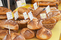 street market selling bread tain l hermitage rhone france