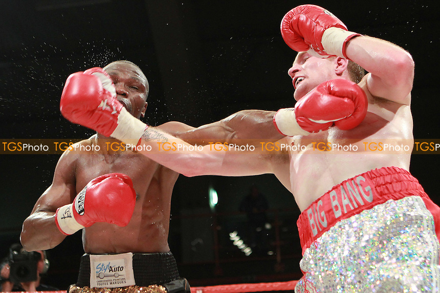 Willie Casey against Daniel Kodjo Sassouin a boxing contest at Kings Hall, Belfast, promoted by Hennessy Sports - 17/09/11 - MANDATORY CREDIT: Chris Royle/TGSPHOTO - Self billing applies where appropriate - 0845 094 6026 - contact@tgsphoto.co.uk - NO UNPAID USE..