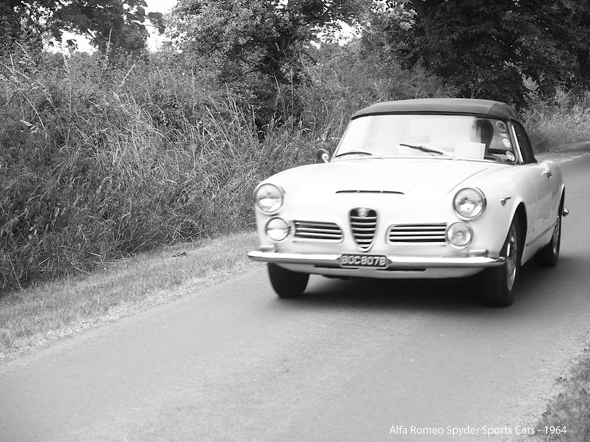 Alfa Romeo Spider Sports Cars - 1964, Alfa Romeo Spider Sports Cars,    Black and White Photography, B&W images, Classic Cars, Old Cars, Time Travel, Good Old Days,B&W Transport Images, £-s-d Black and White Photography, B&W images, Classic Cars, Old Cars, Time Travel, Good Old Days,B&W Transport Images, £-s-d Classic Cars, Old Motorcars, imagetaker!, imagetaker1, pete barker, car photographer,