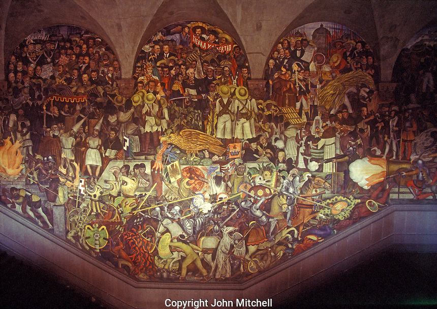 Stock photo of diego rivera murals mexico city john for Mural history