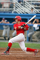 August 3rd 2008:  Jose Garcia of the Batavia Muckdogs, Class-A affiliate of the St. Louis Cardinals, during a game at Dwyer Stadium in Batavia, NY.  Photo by:  Mike Janes/Four Seam Images