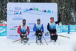 Prince George, B.-C., 16 February/2019  - Collin Cameron wins the silver medal in the men's sitting middle distance biathlon on day 01 of the 2019 World Para Nordic skiing Championships in Prince George, B.C. Photo Bob Frid/Canadian Paralympic Committee.