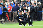 Padraig Harrington and Ross Fisher in Saturdays third session fourballs at the 2010 Ryder Cup, Celtic Manor, Newport, Wales, Saturday 2nd October 2010..Picture Manus O'Reilly/www.golffile.ie