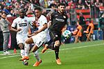 14.04.2018, BayArena, Leverkusen , GER, 1.FBL., Bayer 04 Leverkusen vs. Eintracht Frankfurt<br /> im Bild / picture shows: <br /> Jonathan De Guzman (Frankfurt #6),  <br /> Kevin Volland (Leverkusen #31), <br /> <br /> <br /> Foto &copy; nordphoto / Meuter