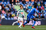 Takashi Inui of SD Eibar (L) in action against Dakonam Djene of Getafe CF (R) during the La Liga 2017-18 match between Getafe CF and SD Eibar at Coliseum Alfonso Perez Stadium on 09 December 2017 in Getafe, Spain. Photo by Diego Souto / Power Sport Images