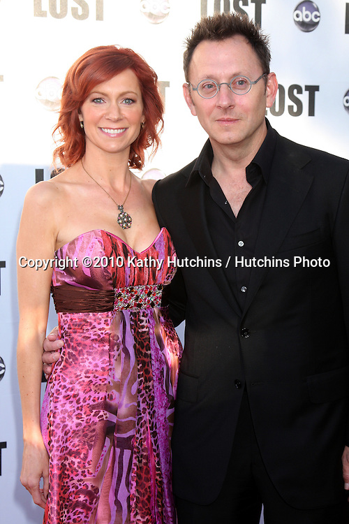 "Carrie Preston; Michael Emerson .arrives at the ""Lost"" Live:  The Final Celebration.Royce Hall, UCLA.Westwood, CA.May 13, 2010.©2010 Kathy Hutchins / Hutchins Photo.."