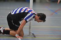 KORFBAL: HEERENVEEN: Blauw-Withal, 23-11-2013, Overgangsklasse A, KV Heerenveen - SDO/VerzuimVitaal, Eindstand 15-26, Wim de Jager (Heerenveen), ©foto Martin de Jong