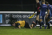 Alun WALKER of Ealing Trailfinders sores a try during the Championship Cup match between London Scottish Football Club and Ealing Trailfinders at Richmond Athletic Ground, Richmond, United Kingdom on 23 November 2018. Photo by David Horn/PRiME Media Images