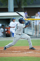 Blake Grant-Parks (24) of the Princeton Rays follows through on his swing against the Burlington Royals at Burlington Athletic Stadium on August 12, 2016 in Burlington, North Carolina.  The Royals defeated the Rays 9-5.  (Brian Westerholt/Four Seam Images)