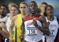 NWA Media/Michael Woods --05/29/2014-- w @NWAMICHAELW...University of Arkansas runner Patrick Rono leads the pack in the preliminaries of the mens 800 meter run Thursday during the 2014 NCAA Division 1 Track and Field West Preliminary track meet at John McDonnell Field in Fayetteville.