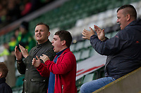 Fleetwood fans during the Sky Bet League 1 match between Plymouth Argyle and Fleetwood Town at Home Park, Plymouth, England on 7 October 2017. Photo by Mark  Hawkins / PRiME Media Images.