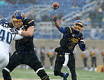 BROOKINGS, SD - DECEMBER 3:  Taryn Christion #3 from South Dakota State passes the ball against Villanova during their second round playoff game Saturday afternoon at Dana J. Dykhouse Stadium in Brookings, SD. (Photo by Dave Eggen/Inertia)