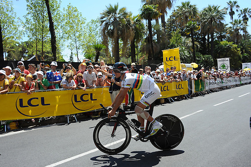 02.07.2013 Nice, France. Tour de France, Team Time Trial on stage 4 of the Tour De France from Nice. Bmc 2013, Gilbert Philippe, Nice