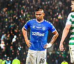 08.11.2019 League Cup Final, Rangers v Celtic: Alfredo Morelos dejection in the rain