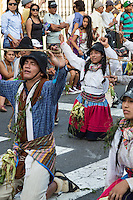 Lima, Peru.  Andean Cultural Parade, Plaza de Armas.