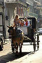 Olivia Thompson, Haley Kassle and Claire Fleischer of Chicago take a carriage tour through the French Quarter, Monday, January, 2, 2006.<br />