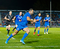 1st November 2019; RDS Arena, Dublin, Leinster, Ireland; Guinness Pro 14 Rugby, Leinster versus Dragons; Dave Kearney of Leinster on his way to scoring his side second try for 12 - 3  - Editorial Use