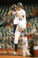 Rice Owls starting pitcher Austin Kubitza #21 in action against the Texas Longhorns at Minute Maid Park on March 2, 2012 in Houston, Texas.  The Longhorns defeated the Owls 11-8.  (Brian Westerholt/Four Seam Images)