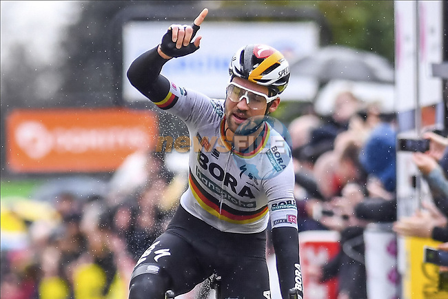 German Champion Maximilian Schachmann (GER) Bora-Hansgrohe wins Stage 1 of the 78th edition of Paris-Nice 2020, running 154km from Plaisir to Plaisir, France. 8th March 2020.<br /> Picture: Bora-Hansgrohe/Nico Vereecken/PN/BettiniPhoto   Cyclefile<br /> All photos usage must carry mandatory copyright credit (© Cyclefile   Bora-Hansgrohe/Nico Vereecken/PN/BettiniPhoto)