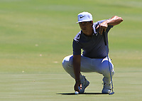 Thorbjorn Olesen (DEN) in action on the 2nd during Round 3 of the ISPS Handa World Super 6 Perth at Lake Karrinyup Country Club on the Saturday 10th February 2018.<br /> Picture:  Thos Caffrey / www.golffile.ie<br /> <br /> All photo usage must carry mandatory copyright credit (&copy; Golffile | Thos Caffrey)