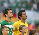 24 June 2006: Jared Borgetti (MEX) (9) and Oswaldo Sanchez (MEX) (r). Argentina (1st place in Group C) defeated Mexico (2nd place in Group D) 2-1 after extra time at the Zentralstadion in Leipzig, Germany in match 50, a Round of 16 game, in the 2006 FIFA World Cup.
