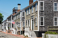 Charming homes, Nantucket, Massachusetts, USA.