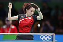 Kasumi Ishikawa (JPN),<br /> AUGUST 7, 2016 - Table Tennis : <br /> Women's Singles Preliminary Round <br /> at Riocentro - Pavilion 3 <br /> during the Rio 2016 Olympic Games in Rio de Janeiro, Brazil. <br /> (Photo by Yusuke Nakanishi/AFLO SPORT)