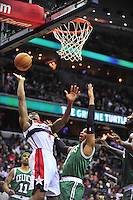Rookie Bradley Beal is fouled while going to basket. Boston defeated Washington 89-86 at the Verizon Center in Washington, D.C. on Saturday, November 3, 2012.  Alan P. Santos/DC Sports Box