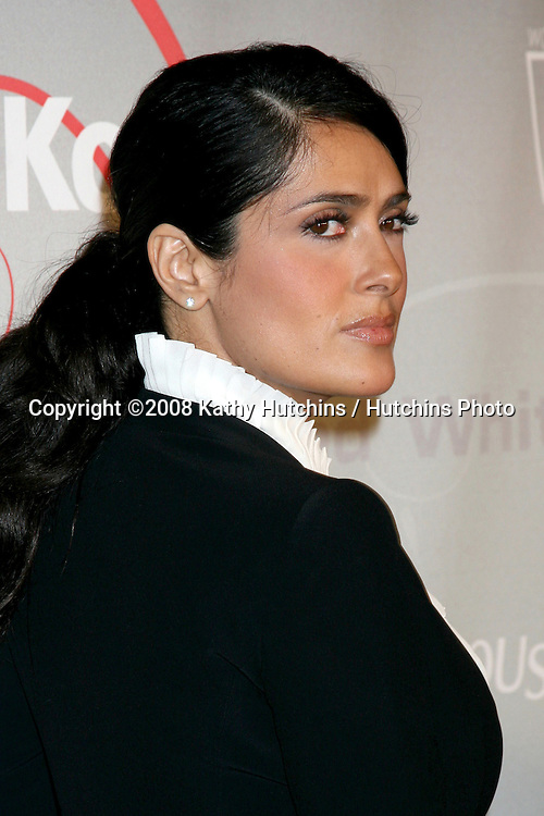 Salma Hayek  arriving at the 2008 Crystal & Lucy Awards at the Beverly Hilton Hotel in Beverly Hills, CA.June 17, 2008.©2008 Kathy Hutchins / Hutchins Photo .