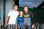 Darren O'Sullivan with Lilly Collins and Paudie O'Shea at the Kerry Supporters Dog Night in the Kingdom Greyhound Track on Friday night.
