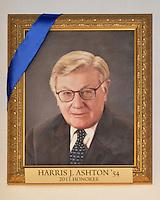 Blue Leadership Ball 2011, Yale University Athletics. Award Honoree Harris J. Ashton '54 Portrait handing in the Kiphuth Trophy Room, Payne Whitney Gymnasium.