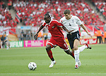 15 June 2006: Aurtis Whitley (TRI) (9) and Steven Gerrard (ENG) (4). England defeated Trinidad and Tobago 2-0 at the Frankenstadion in Nuremberg, Germany in match 19, a Group B first round game, of the 2006 FIFA World Cup.