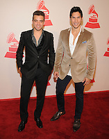 LAS VEGAS, NV - November 14: Chino y Nacho attends the Latin Grammys Person of the Year red carpet arrivals at the MGM Grand on November 14, 2012 in Las Vegas, Nevada. Photo By Kabik/ Starlitepics/MediaPunch Inc. /NortePhoto