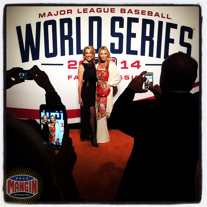 SAN FRANCISCO, CA - OCTOBER 23: Instagram of San Francisco Giants fans posing for pictures on the red carpet at the World Series Gala at the James Herman Cruise Terminal on October 23, 2014 in San Francisco, California. Photo by Brad Mangin
