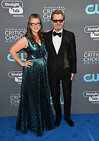 Gary Oldman &amp; Gisele Schmidt at the 23rd Annual Critics' Choice Awards at Barker Hangar, Santa Monica, USA 11 Jan. 2018<br /> Picture: Paul Smith/Featureflash/SilverHub 0208 004 5359 sales@silverhubmedia.com
