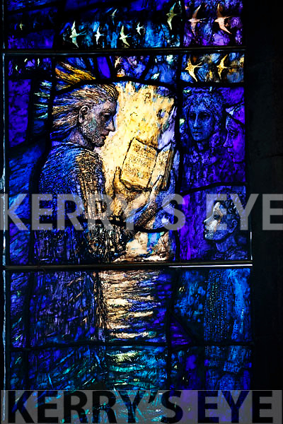 """Instillation of the Stained Glass """"Reconciliation window"""" in Saint Johns Church in Tralee."""