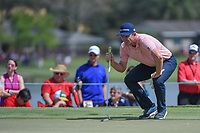Justin Rose (ENG) lines up his putt on 7 during round 3 of the Arnold Palmer Invitational at Bay Hill Golf Club, Bay Hill, Florida. 3/9/2019.<br /> Picture: Golffile | Ken Murray<br /> <br /> <br /> All photo usage must carry mandatory copyright credit (&copy; Golffile | Ken Murray)