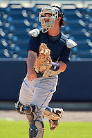 Tampa Bay Rays minor league catcher Lucas Bailey (8) during an Instructional League game vs. the Minnesota Twins at Charlotte Sports Park in Port Charlotte, Florida;  October 5, 2010.  Photo By Mike Janes/Four Seam Images