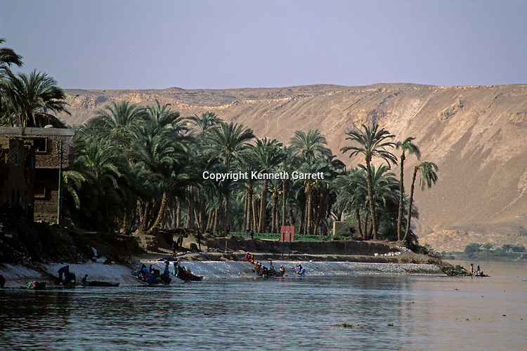 Nile River scenic, near Amarna, Egypt