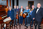 The guest performers in the Abbeydorney Church Concert in aid of Sightsavers in the Church on Sunday evening. L-r, John Jones (Tralee), Fr. Pat Ahern, Frankie, Jim and Mike O'Shea (Tralee), Sean Ahern (Listowel) and Noel Heaslip (MC Abbeydorney).