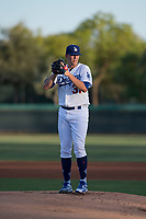 AZL Dodgers starting pitcher James Marinan (31) prepares to deliver a pitch during an Arizona League game against the AZL White Sox at Camelback Ranch on July 3, 2018 in Glendale, Arizona. The AZL Dodgers defeated the AZL White Sox by a score of 10-5. (Zachary Lucy/Four Seam Images)