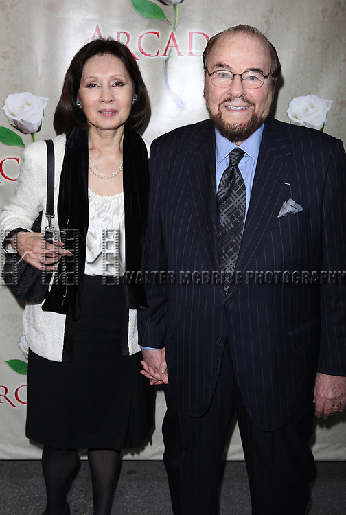 James Lipton & wife attending the Broadway Opening Night Performance of 'Arcadia' at the Barrymore Theatre in New York City