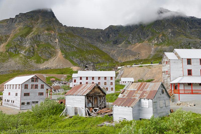 Historic Independence Gold Mine in Hatcher Pass, Alaska.